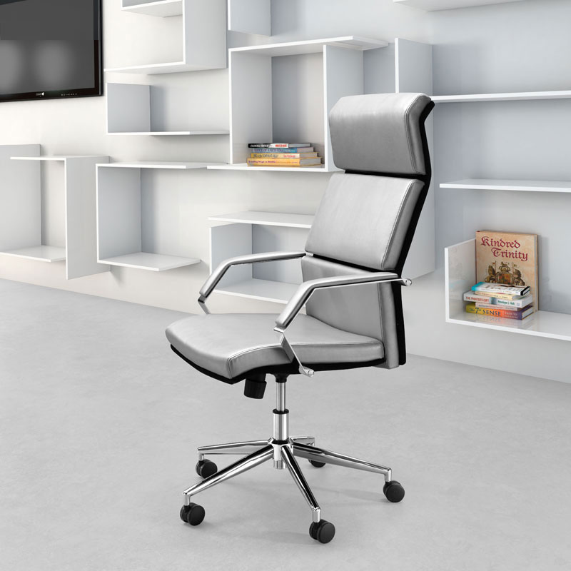 office furniture office chairs stylish silver leatherette o