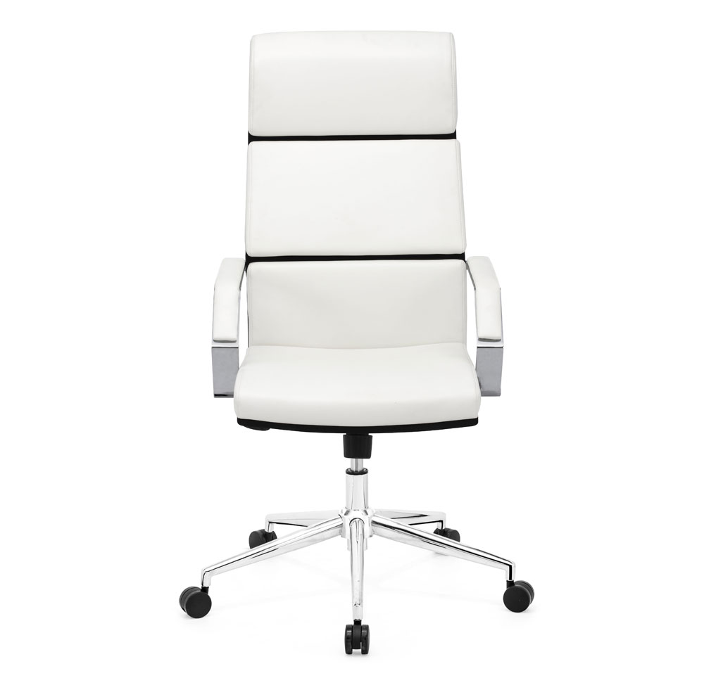 ... Stylish Silver Leatherette Office Chair Z 312 ...