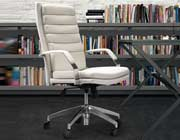 Modern Style Office chair in White Z327