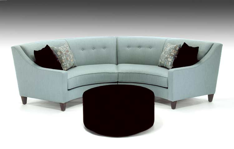 Curved Custom Fabric Sectional Sofa Avelle 531 Sofas