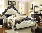 Traditional Tufted Eco Leather Bed HD8021