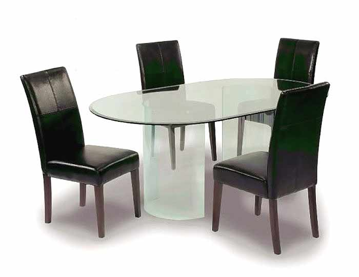 Table glass ch 15 modern dining for All glass dining room table