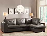 Sofa sectional in Grey Eco Leather HE968