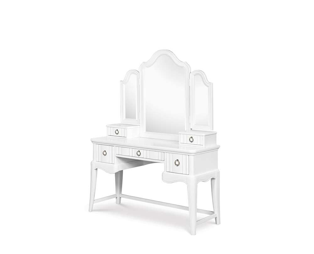 White Vanity Desk With Mirror Bedroom Vanity Sets