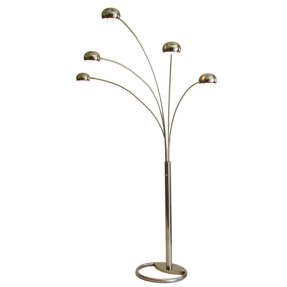 Arc floor lamp nl046 floor table for Arc nero 5 light floor lamp with multi colored glass shades