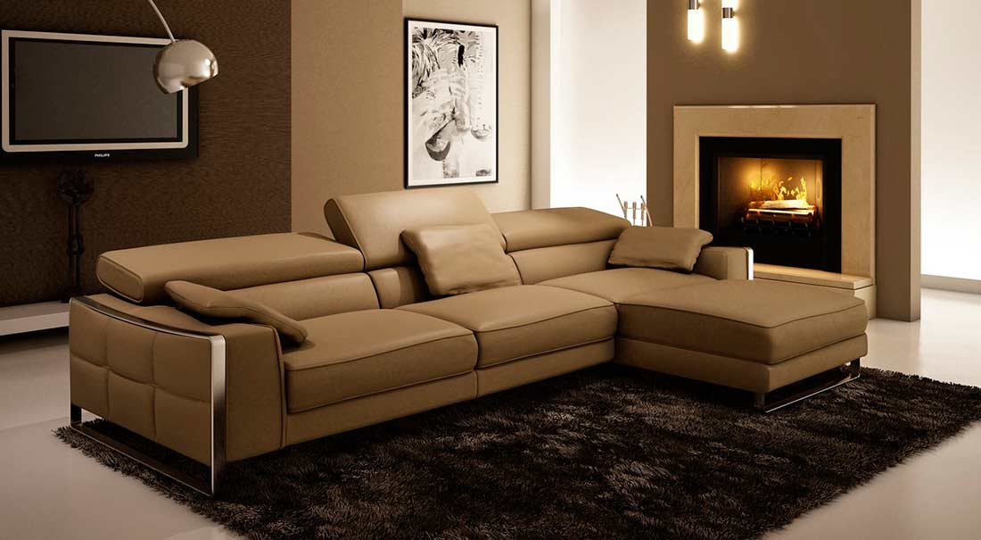 Modern Leather Sectional Sofa Vg060 Leather Sectionals