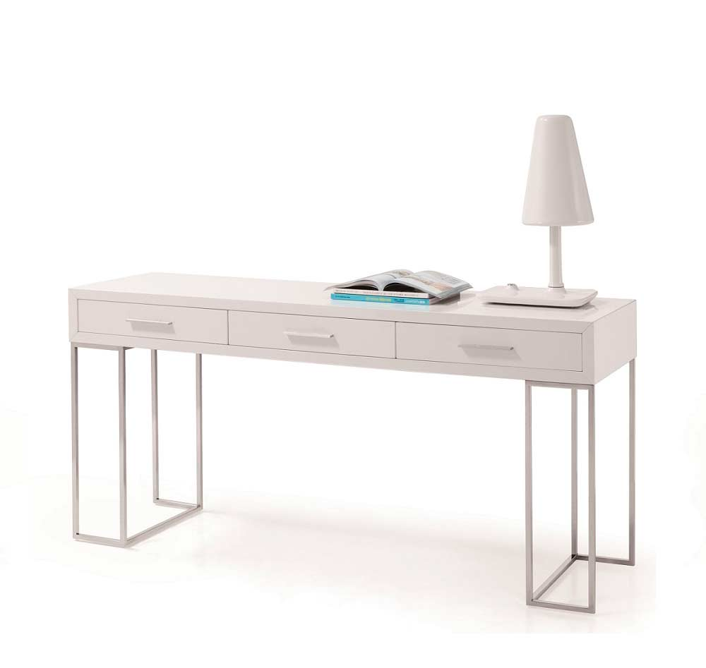 Modern White Lacquer Office Desk Sj02 Desks