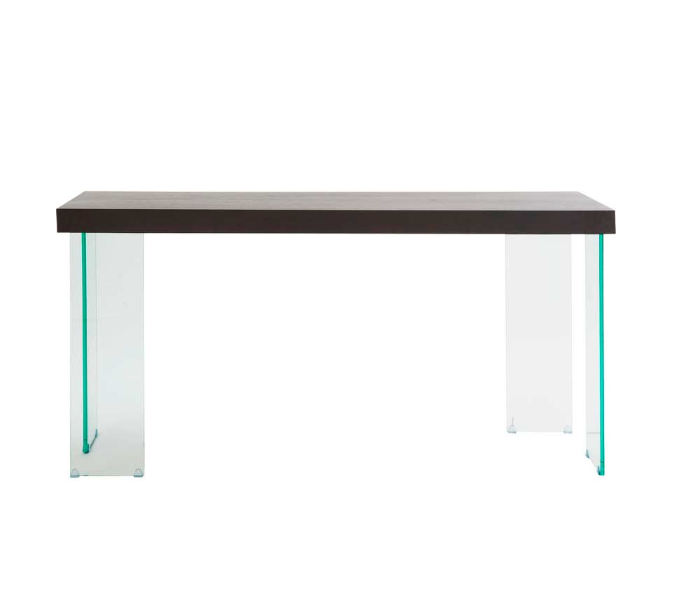 Contemporary Console Table With Glass Legs Carlo Hallway