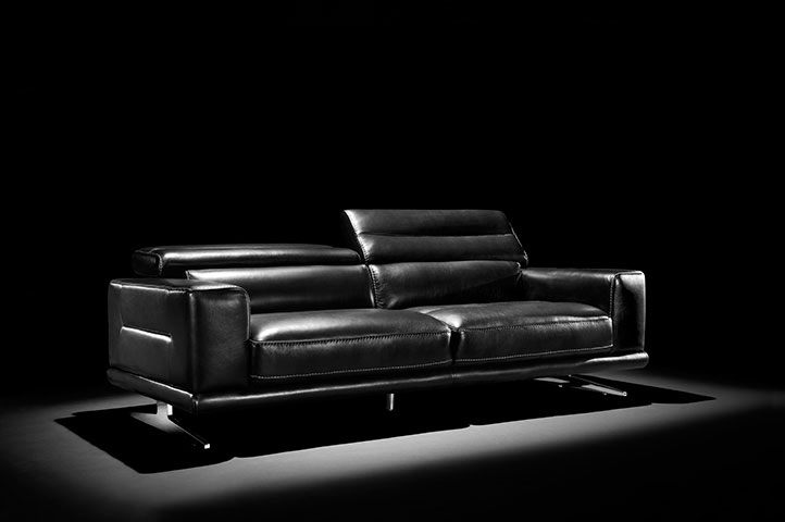 Black Leather sofa Blair by Moroni | Leather Sofas