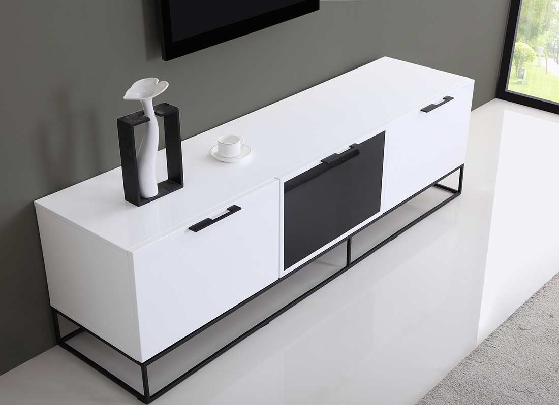 ... Modern White Black TV Stand BM35 ...