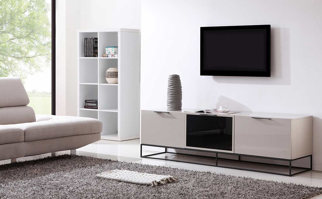 Modern white black tv stand bm35 tv stands White tv console