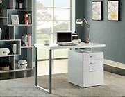 Contemporary White Desk CO 325