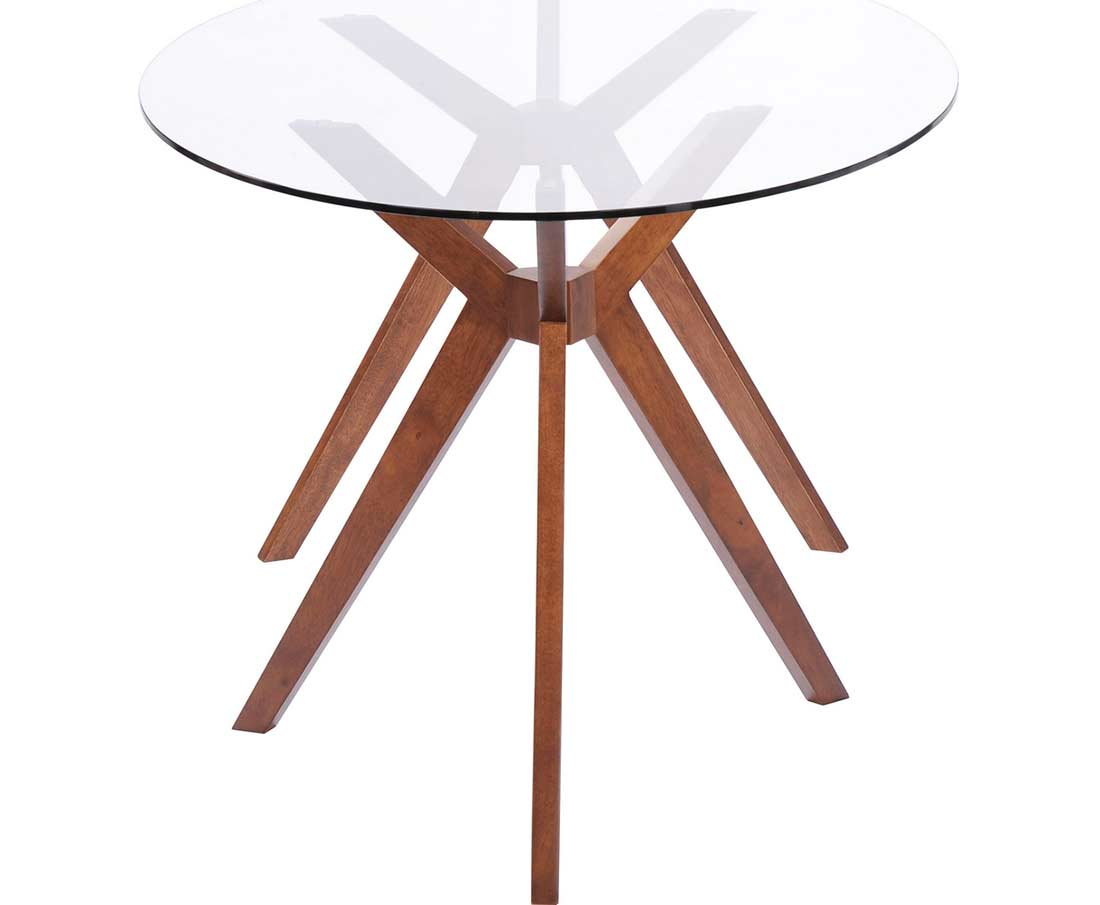 Oval glass dining table z090 modern dining for Modern dining table