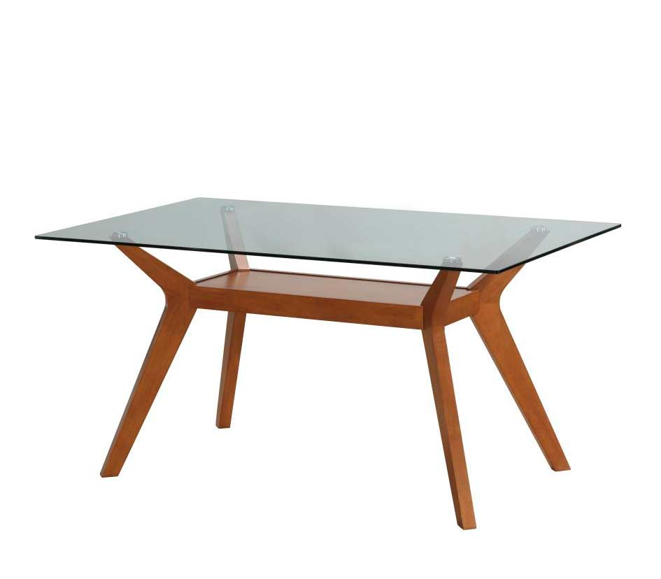 Nutmeg dining table patsy co171 modern dining for Contemporary glass dining table