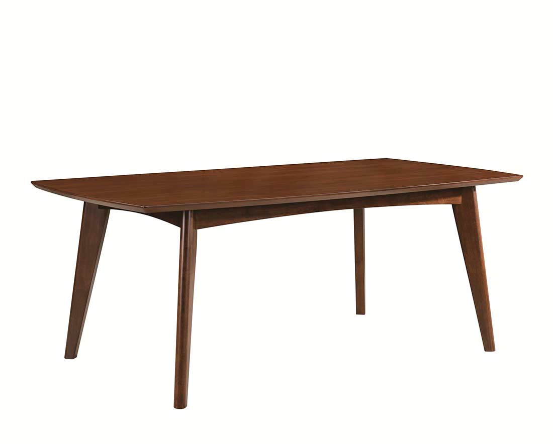 Dark walnut dining table co351 urban transitional dining for Dark wood dining table