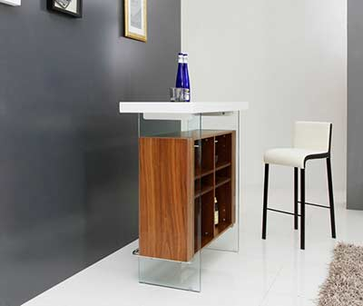 White and Walnut Bar Table VG001