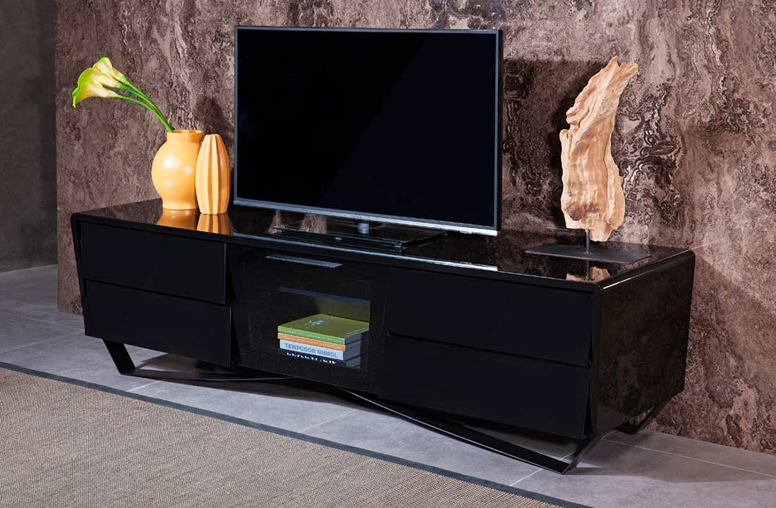 Black High Gloss Tv Stand Vg 103