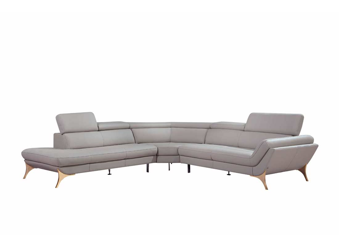 Modern grey sectional sofa vg41 leather sectionals for Contemporary sectional sofas