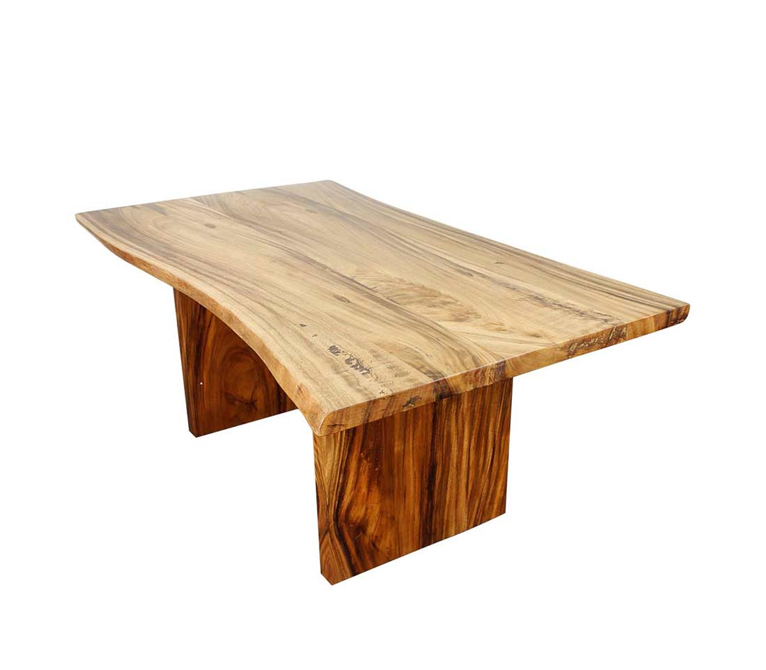 Natural wood dining table pg travis modern dining for Dinner table wood