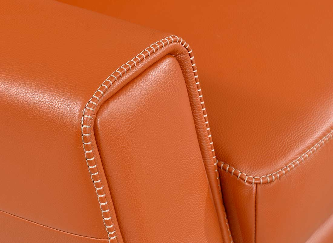 Incroyable Modern Orange Leather Sofa EF531 ...
