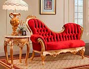 Red Velvet Chaise Lounge 756
