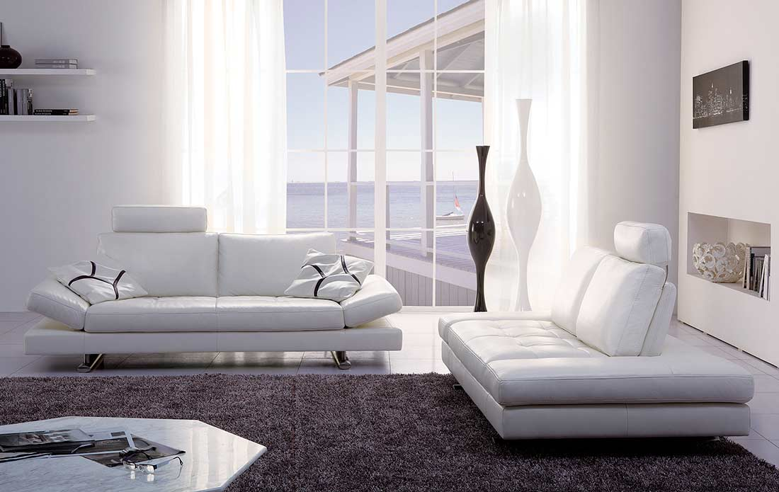 White Leather Sofa Bed Kuka 1510 Sofa Beds