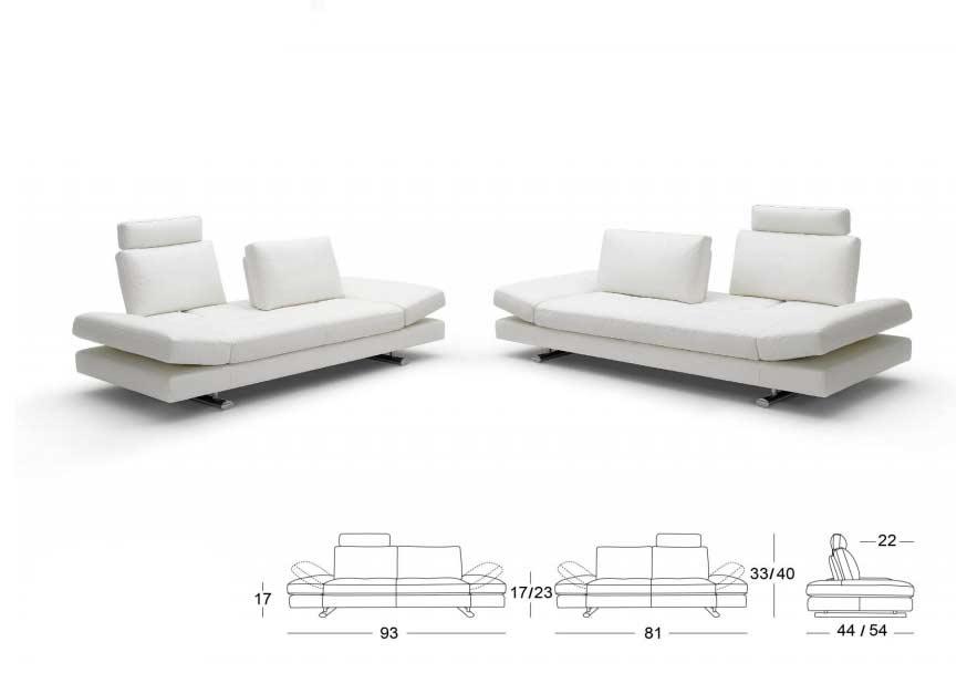 White Leather Sofa Bed Kuka 1510 ...