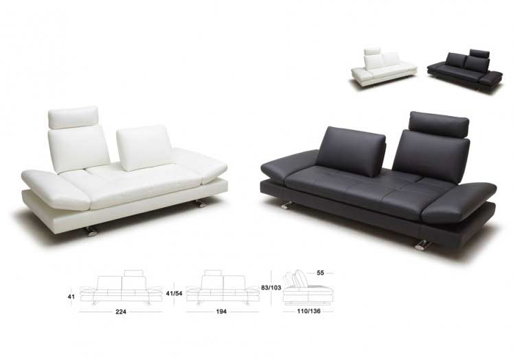 Perfect ... White Leather Sofa Bed Kuka 1510 ...