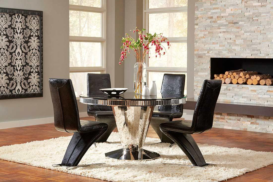 black dining table co061 modern dining. Black Bedroom Furniture Sets. Home Design Ideas