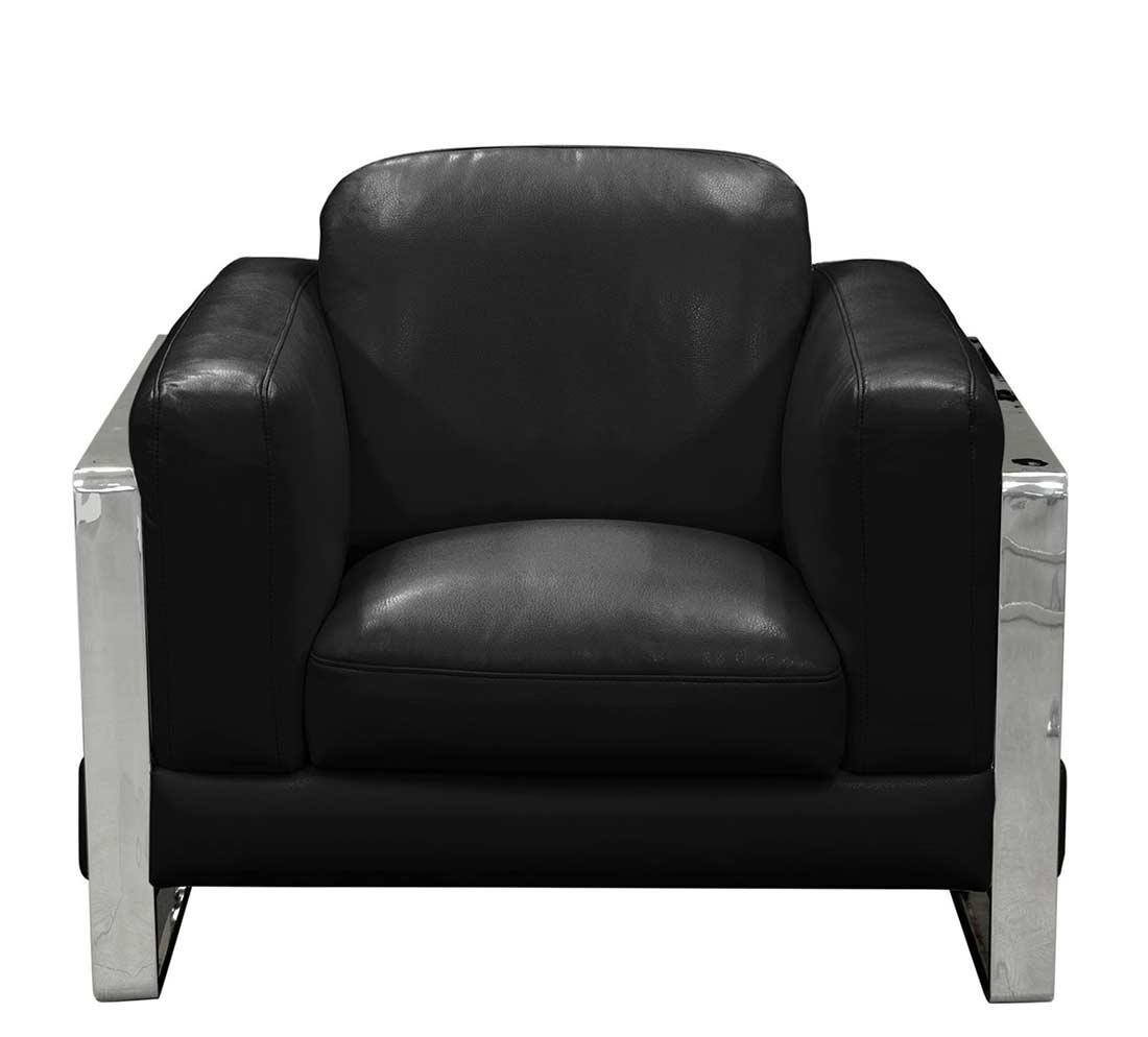 Black Eco Leather Sofa Ds 074 Leather Sofas