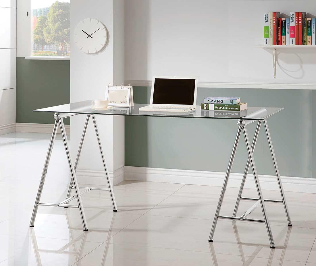 Glass Top Writing Desk Co804 Executive