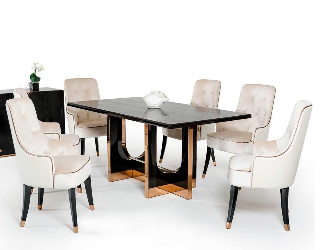 black crocodile and rosegold dining table vg828 modern dining. Black Bedroom Furniture Sets. Home Design Ideas