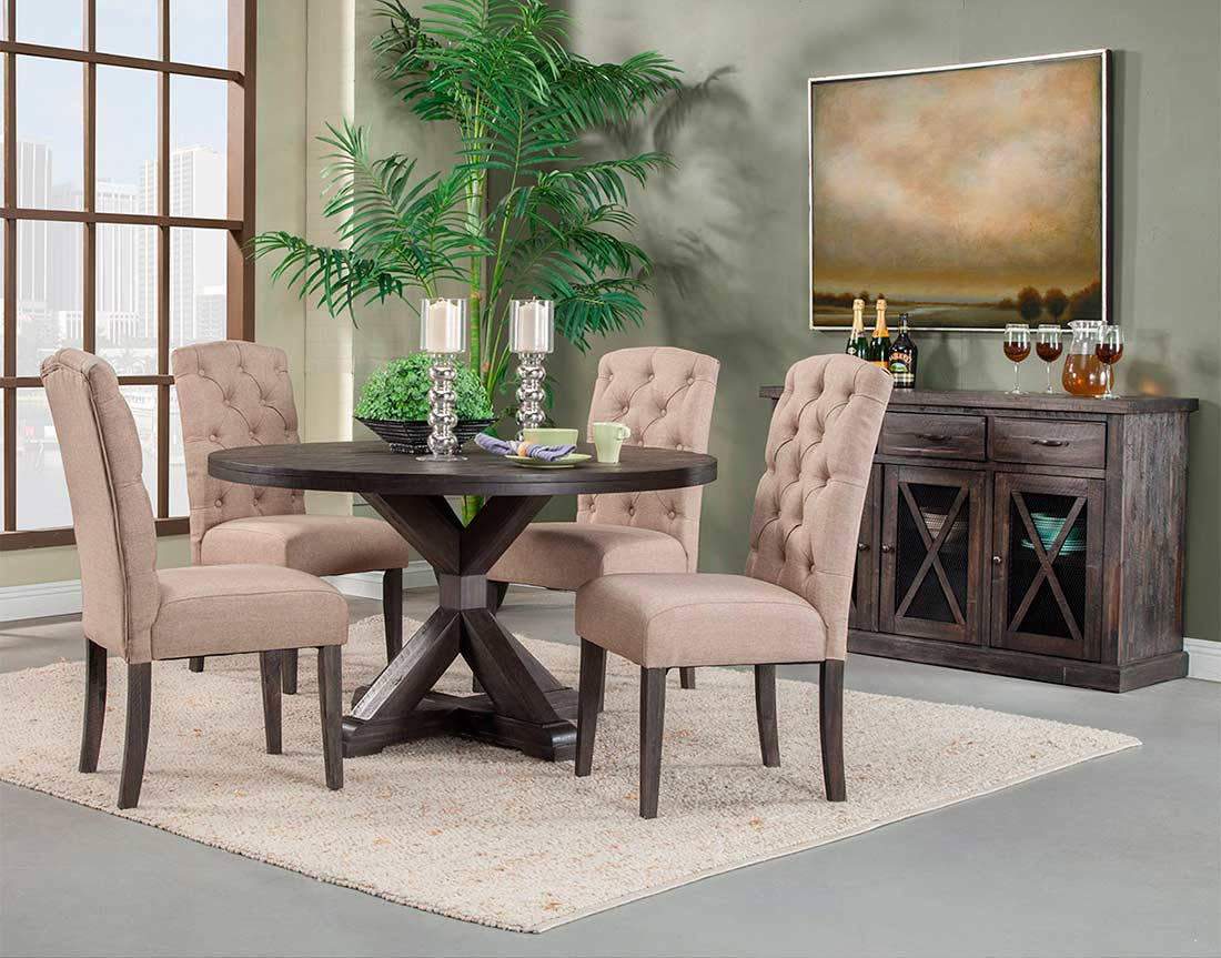 Salvaged Grey Round Dining Table Af 022 Modern Dining