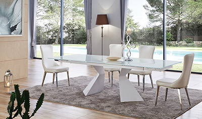 Glass Top Extendable Dining Table EF92