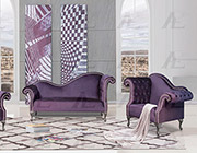 Purple Fabric Sofa Set AE601