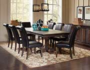 Wilmer Dining Table with Black chairs CO281