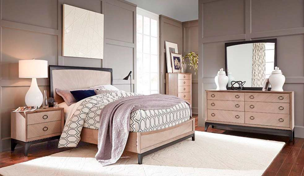 Two tone bedroom set nj ninette modern bedroom furniture for Bedroom furniture jersey