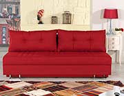 Red Fabric Sofa Bed Lavana