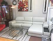 Kuka Grey Leather sectional sofa
