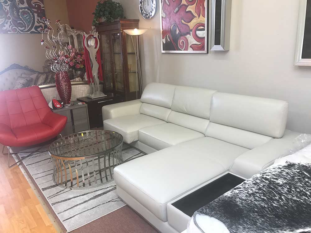 Kuka Grey Leather Sectional Sofa Leather Sectionals
