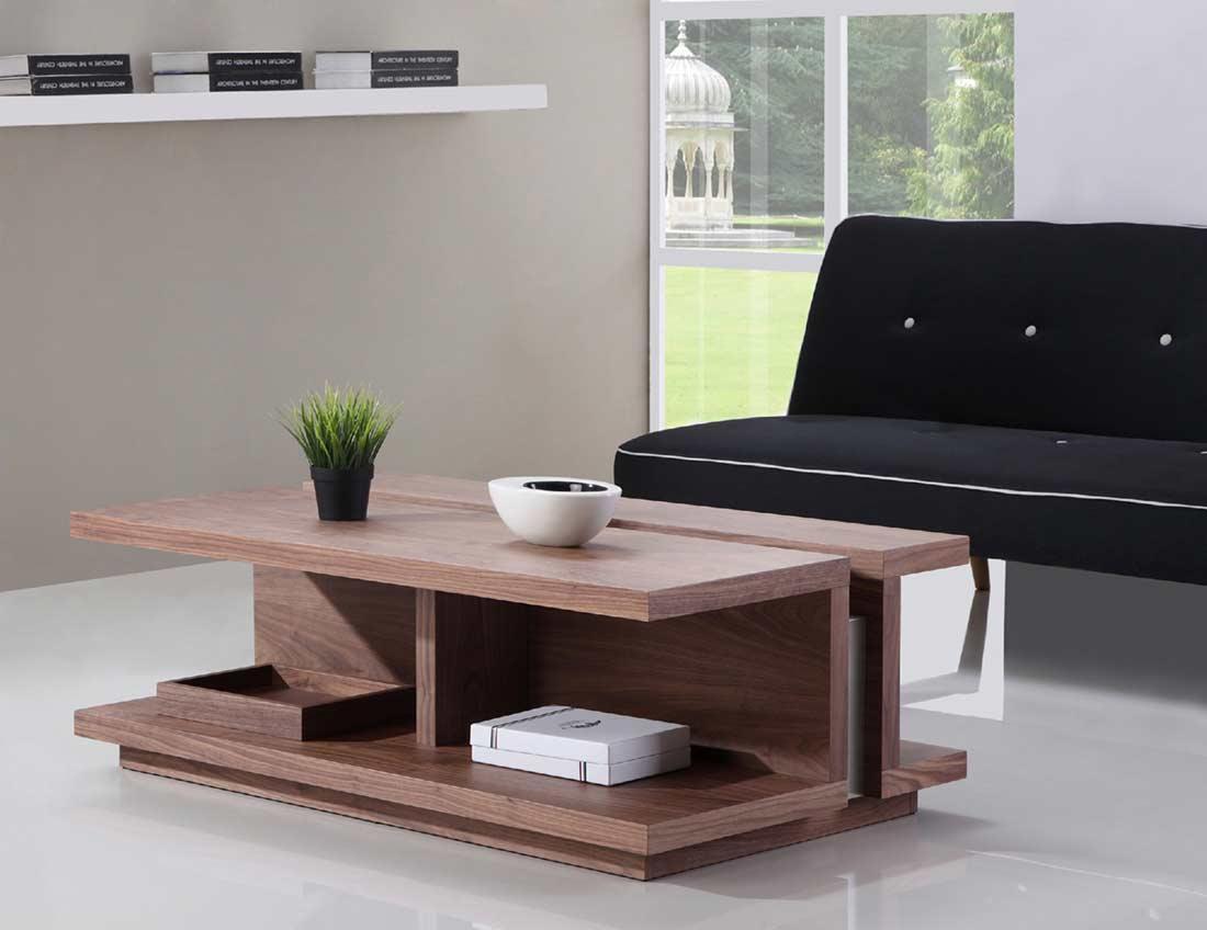 light walnut coffee table bm 31 contemporary. Black Bedroom Furniture Sets. Home Design Ideas