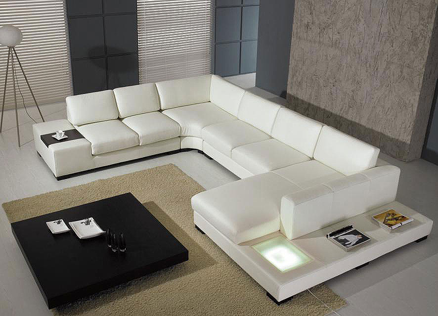 Contemporary Sofa Leather Sectional sofa 3   Leather Sectionals