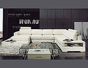 Contemporary Sofa Leather Sectional sofa 3