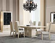 Light Walnut Extendable Dining Table NJ 897