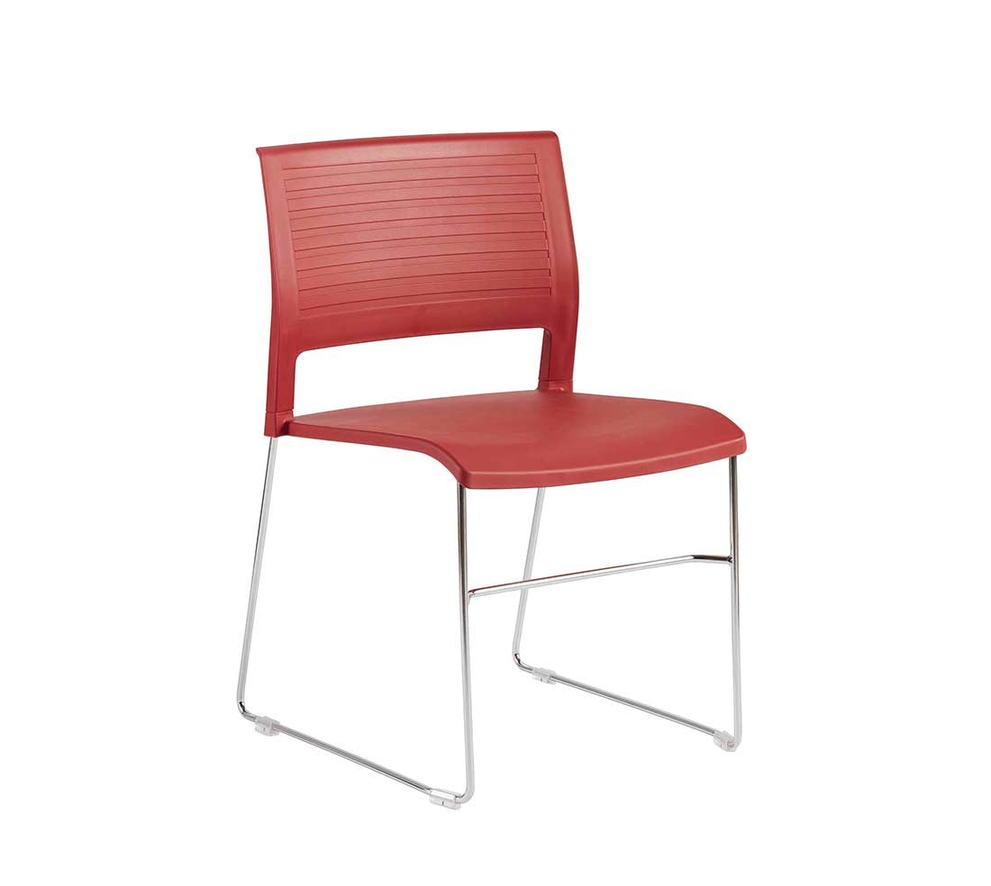 Renie Stackable Chair In Red Modern Chairs