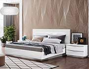 White Lacquer Finish Italian Bedroom Leona