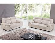 Light Gray Italian leather sofa AEK 72