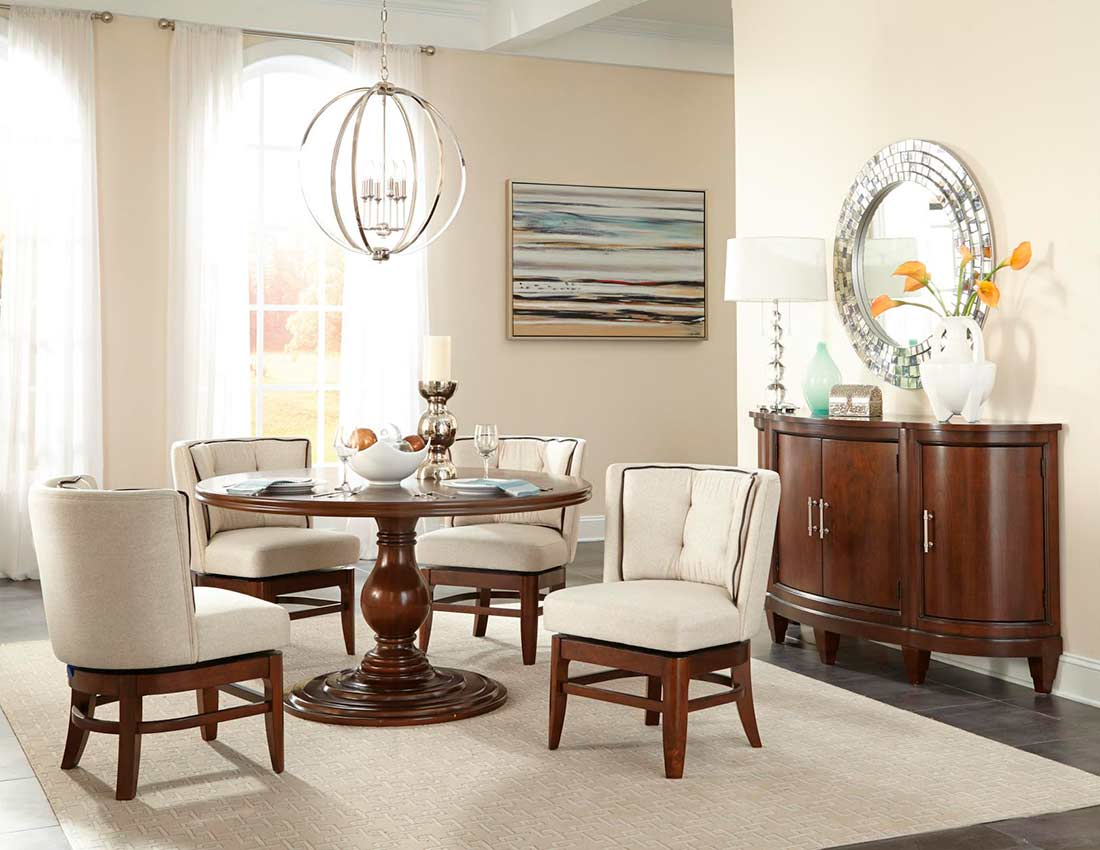 Modern Traditional Dining Table HE R Urban Transitional Dining - Traditional dining table with contemporary chairs
