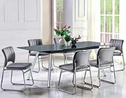 Gray Glass Top Dining Table HE 559