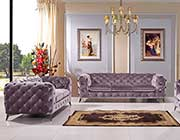 Modern Light Gray Sofa set VG Delora